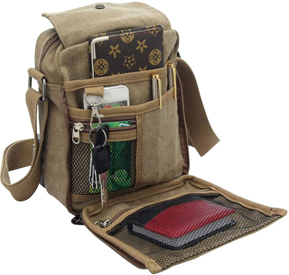 Men's Canvas Small Messenger Bag Shoulder Chest Casual T 55% OFF 2021new shipping free shipping