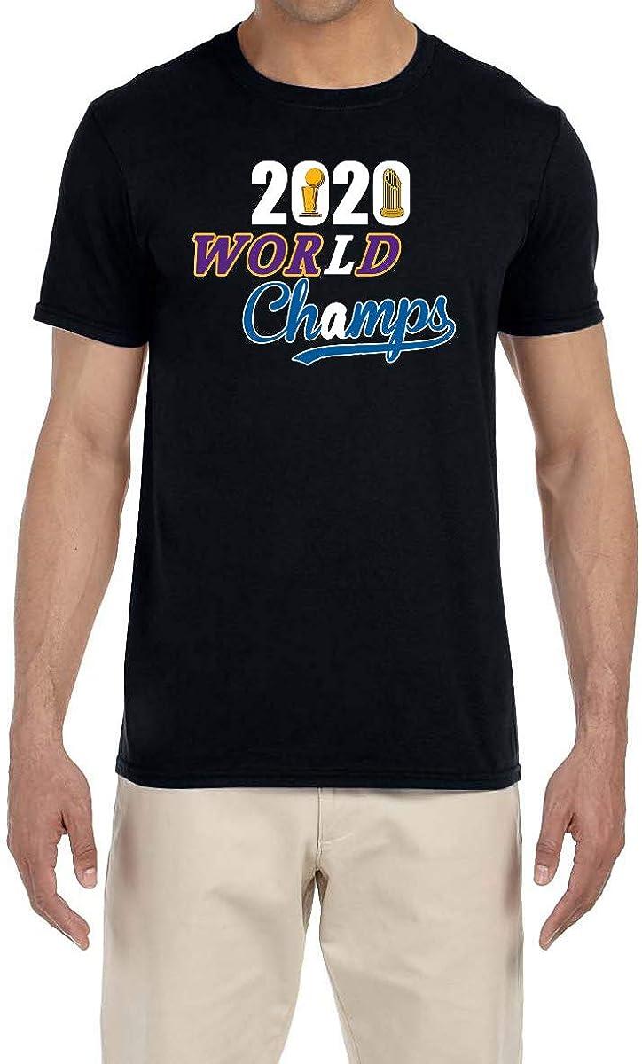 Tobin Clothing Black Los Angeles 2020 World Champs T-Shirt
