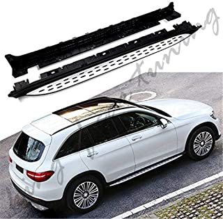 king of car tuning Aluminium Running Boards Side Steps Nerf Bars Fit for Mercedes Benz GLC Coupe X253 C253 2016 2017 2018 2019 2020