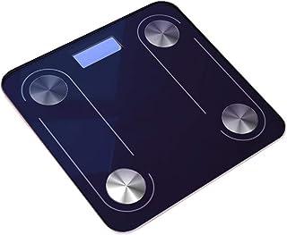 MHBY Báscula de Peso, Báscula de Grasa Corporal Vidrio de Piso Báscula electrónica Inteligente USB LED Digital BMI Báscula de Peso Pérdida de Peso Báscula de baño Báscula Bluetooth Báscula de baño
