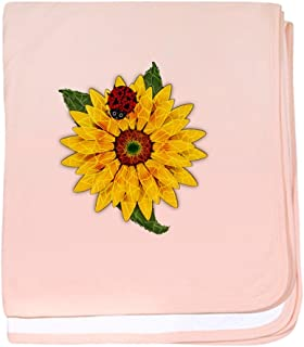 CafePress - Mosaic Sunflower with Lady Bug - Baby Blanket, Super Soft Newborn Swaddle
