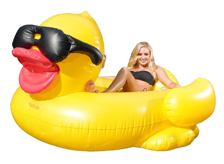 Juguete Inflable Gigante de Pato, Juguetes Flotadores para Piscina ...