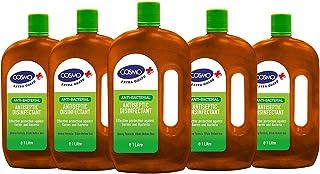 Cosmo Anti-Bacterial Antiseptics & Disinfectants Liquid - 1 Litre PACK OF 5