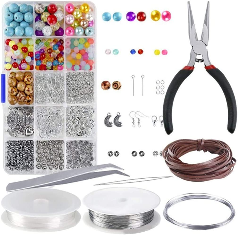 FunPa Bead Virginia Beach Mall Craft Kit DIY Popular product 15 Assorted J Color Set Grid Charm