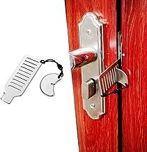 Draagbaar deurslot Reisslot Solid Heavy Duty Lock Punch-Free Beveiliging Privacy Deurslot voor Appartement/Reizen/Hotel/Sc...