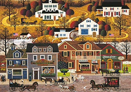 Buffalo Games Charles Wysocki Hawkriver Hollow 300 Large Piece Jigsaw Puzzle product image