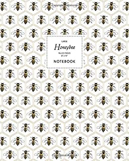 Honeybee Notebook - Ruled Pages - 8x10 - Large: (Honey Edition) Fun notebook 192 ruled/lined pages (8x10 inches / 20.3x25....