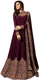 RANGE OF INDIA Women's Anarkali Salwar Kameez Designer Indian Dress Ethnic Party Embroidered Gown
