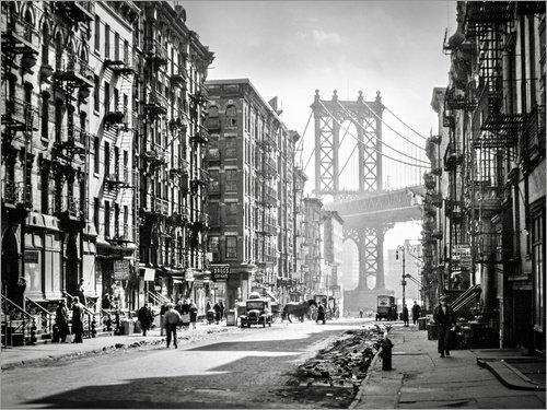 Posterlounge Acrylglasbild 40 x 30 cm: Historisches New York: Pike and Henry Streets, Manhattan von Christian Müringer - Wandbild, Acryl Glasbild, Druck auf Acryl Glas Bild
