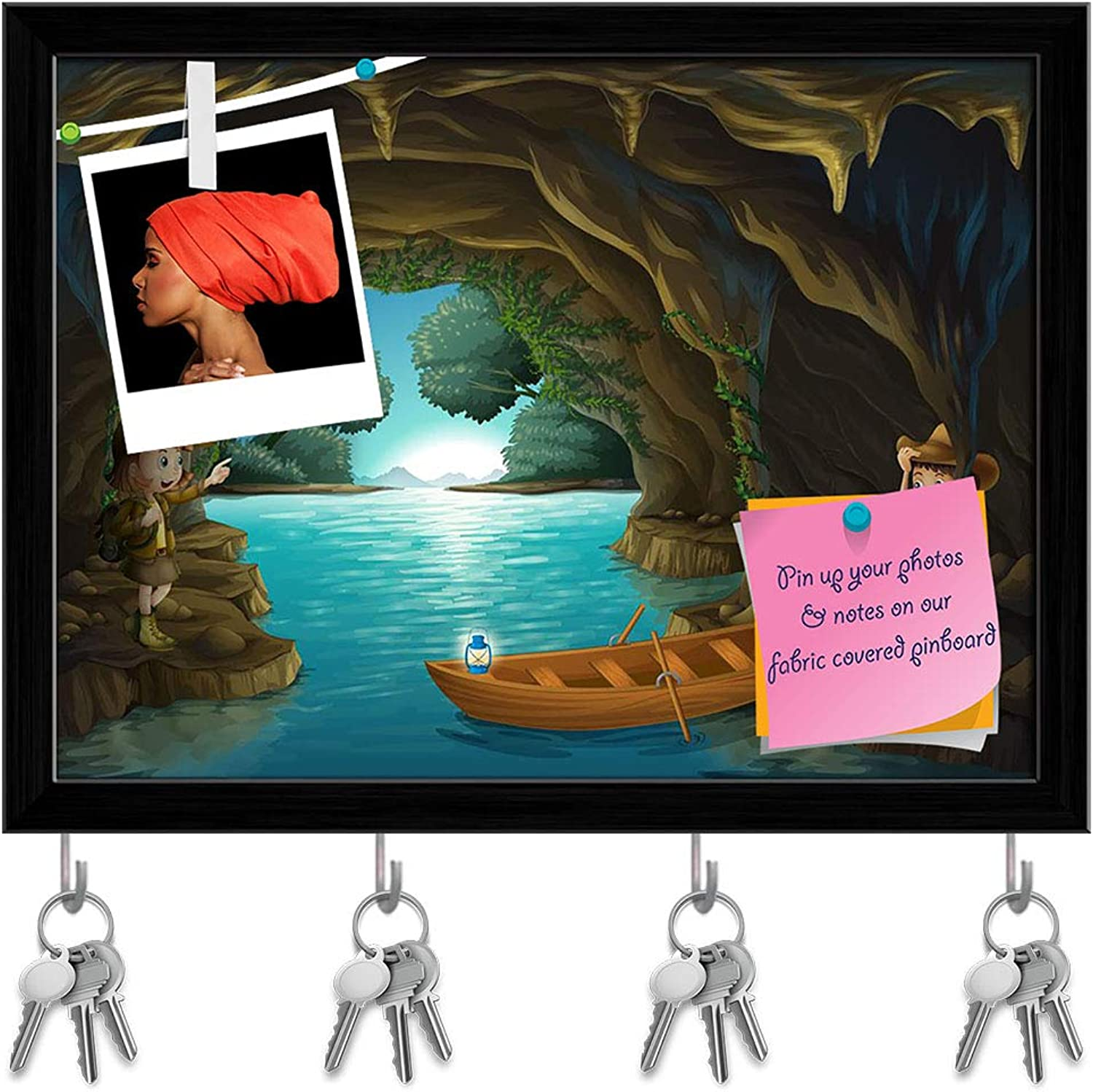 Artzfolio Young Girl & Boy Inside The Cave Key Holder Hooks