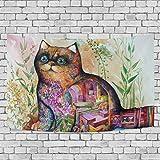 FPDecor Tapisserie Wandbehang,Wandteppich Coloful Cat Carpet Drucken Sie Hippie-Wandteppiche Bettlaken Dekoration für Schlafzimmer Wohnzimmer Schlafsaal