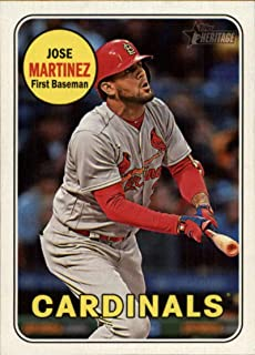 2018 Topps Heritage High Number Variations #549 Jose Martinez Action Short Print MLB Baseball Trading Card