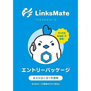『新規契約事務手数料3,000円無料』 リンクスメイト【LinksMate】 エントリーパッケージ ドコモ対応 SIMカード [iPhone/Android共通] (データSIM/SMS付きSIM/音声通話SIM) ゲームプレイヤー向け 240015