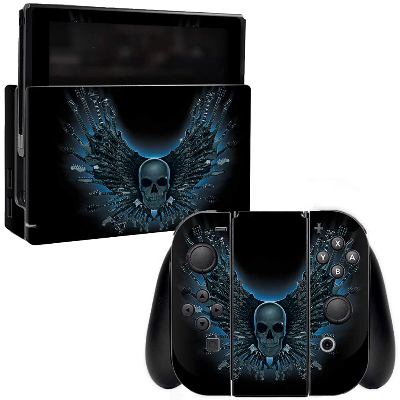 MightySkins Skin Compatible with Nintendo Switch - Skull Strings | Protective, Durable, and Unique Vinyl Decal wrap Cover | Easy to Apply, Remove, and Change Styles | Made in The USA