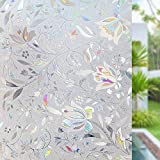 Película de Ventana autoadhesiva no Adhesiva, Etiqueta de privacidad de Vidrio de Color 3D, Adecuada para baño Familiar, Cocina, balcón N 45x100cm