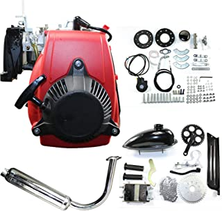 Bicycle Engine Kit 49cc 4-Stroke Gas Petrol Motorized Bike Engine Motor Kit Bicycle Scooter DIY Conversion Set W/Chain Drive