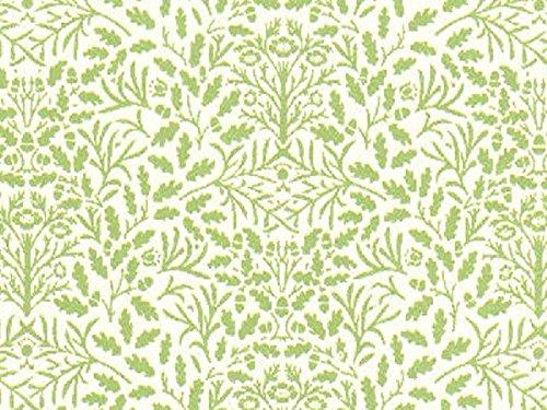 Wonham Dolls House - Papel pintado para bellotas (escala 1:12), color verde y crema