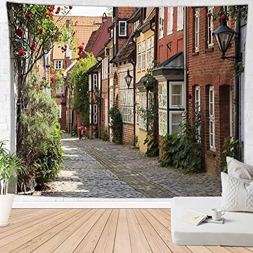 N/3D-Druck Tapisserie Blume Street...