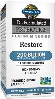 Garden of Life Dr. Formulated Probiotics Platinum Series Restore 200 Billion CFU Guaranteed, High Potency Probiotic Formul...