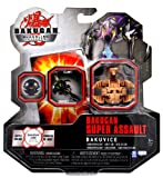 Bakugan Spin Master Year 2010 Gundalian Invaders Super Assault Series BakuVice Single Figure - Subterra Brown CLAWSAURUS (750G) with 1 Ability Card and 1 Metal Gate Card Plus Hidden DNA Code