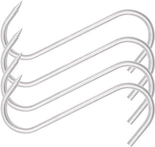 HONSHEN 8 Inch Meat Hook Heavy Duty S-Hooks Stainless Steel Meat Processing Butcher Hook (Meat Hooks 8inch8mm4p)
