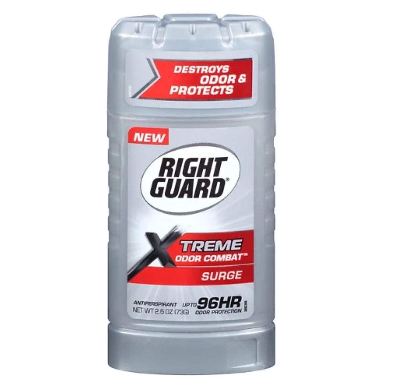 侵入規則性教科書Right Guard Xtreme Odor Combat Surge Invisible Solid Antiperspirant and Deodorant - 2.6oz 海外直送品 [並行輸入品]