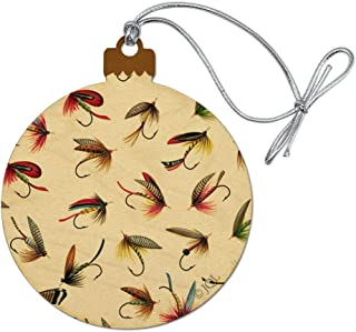 GRAPHICS & MORE Flies Flyfishing Fly Fishing Lures Lake River Wood Christmas Tree Holiday Ornament