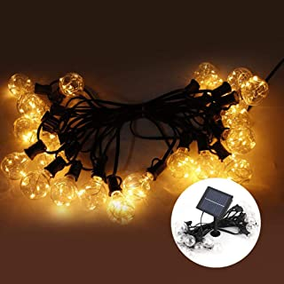 Transparent G40 Bulb Light String, 25LED Waterproof String Light, ABS Plastic for Canopy Elevated Table Pergola Umbrella G...