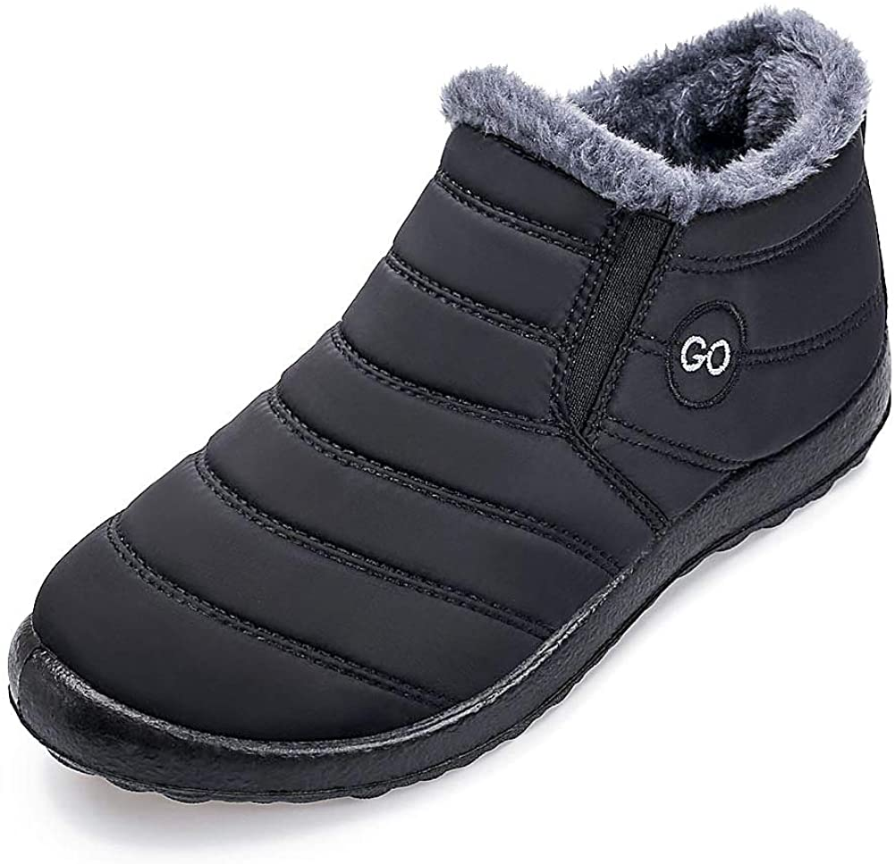 Womens Winter New item Snow Boots Fur Lined Wate Slip On Ankle Warm Nashville-Davidson Mall