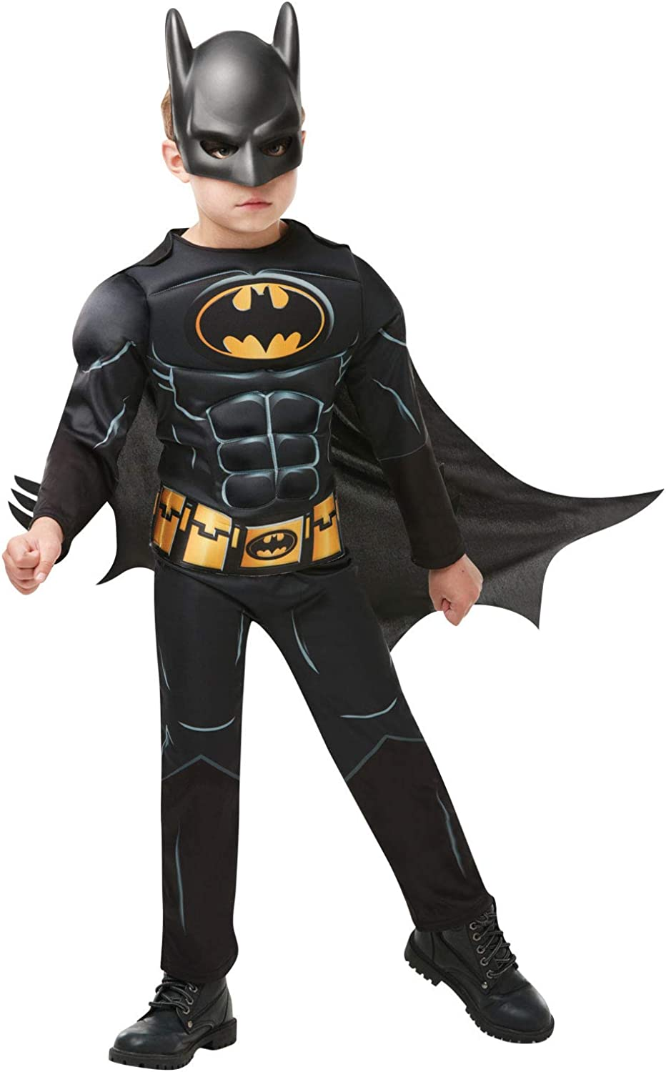 Rubie's High quality new Official Batman Black safety Costume Superhero Child's Deluxe