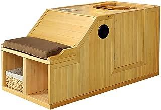 1 Person Half Sauna FIR FAR Infrared Heat 7 Carbon Heaters 141 Degrees 120V Hemlock Wood Portable