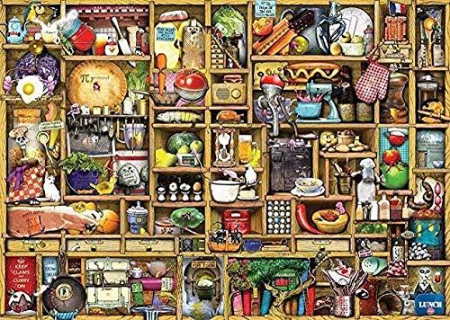 Houten puzzel 1000 stukjes,grappige Puzzels Voor Volwassenen Spelletjes De Keukenkast Natuur Landschap Kunst Foto Puzzel Van 1000 Stukjes
