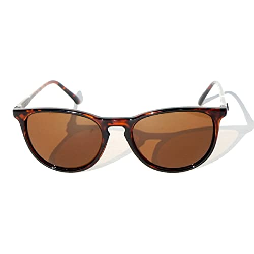 34dfbcd09ac2 Retro Tortoise Shell Polarized Sunglasses with Amber Lenses by DANG Shades