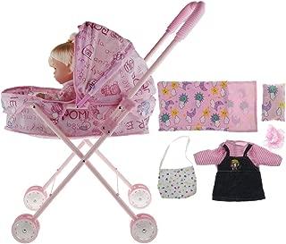 SM SunniMix Newborn Baby Doll Nursing Accessory - Soft Body Talking Baby & Baby Doll Stroller Baby Carriage Pushchair Doll Furniture Playsets