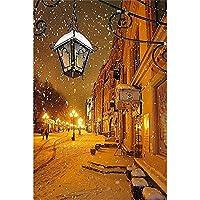 300ピース木製ジグソーパズルクリスマスパズルゲーム夜の雪の中のストリートビュークリスマスプレゼント