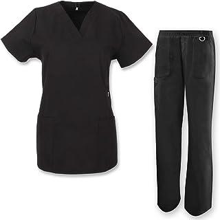 MISEMIYA Unisex Medical Uniform Scrub Set Workwear Set