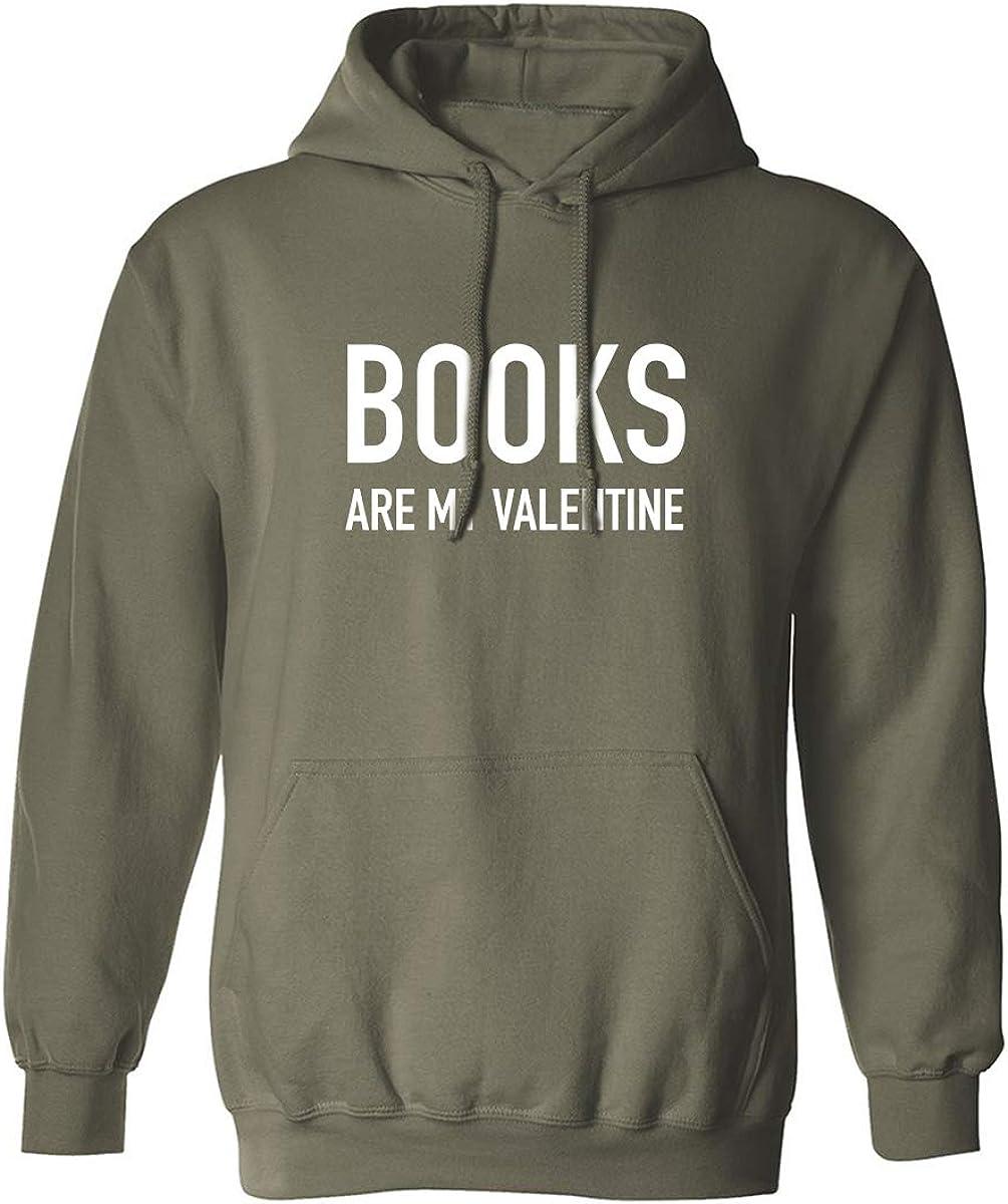 Books Are My Valentine Adult Hooded Sweatshirt