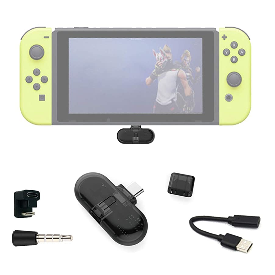 The perseids Wireless Bluetooth Audio Transmitter Adapter for Nintendo Switch, USB-C Type Wireless Headset Receiver with Mic, aptX Low Latency