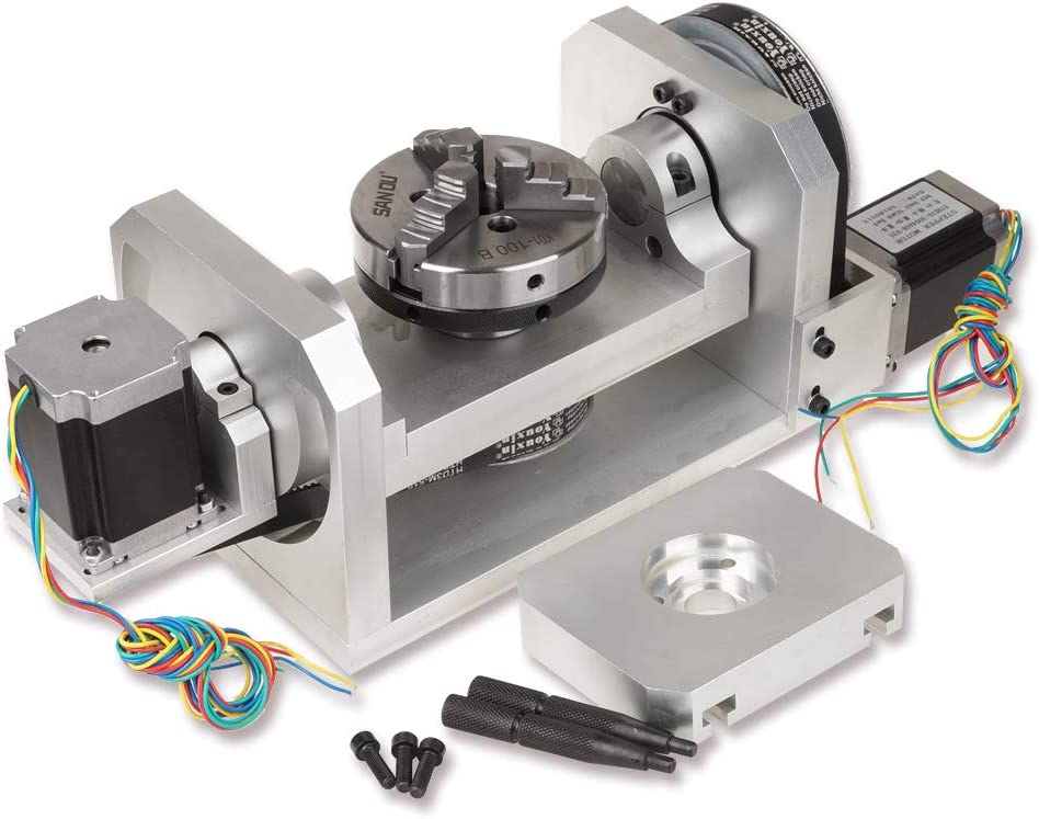 4th Axis 65MM CNC Engraving Machine 4th Axis A Axis Rotary Axis CNC Dividing Head with ER32 Collet for 3040//4060//6090 Mini CNC Router