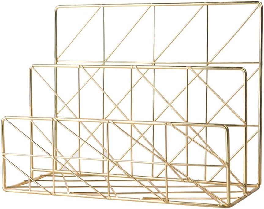 Superior Storage Newspaper Baskets Metal Plating R Empty Golden 5 ☆ popular Bookshelf
