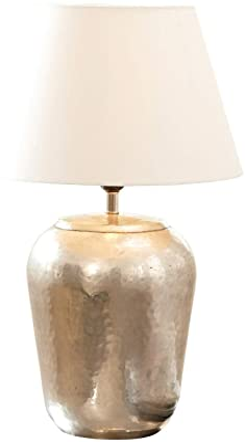 Loberon Lampe àposer Bonnée - laiton, coton - H/D env. 52/30 cm