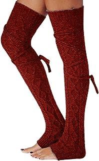 fc2fad92cbe88 Changeshopping Fashion Women Winter Warm Leg Warmers Knitted Crochet Long  Socks