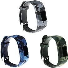 RuenTech Compatible for Garmin vivofit jr and vivofit jr 2 Replacement Band (Kid's Bands) Colorful Adjustable Wristbands with Secure Watch-Style Clasp Strap for Vivofit JR (Soldier pattern)
