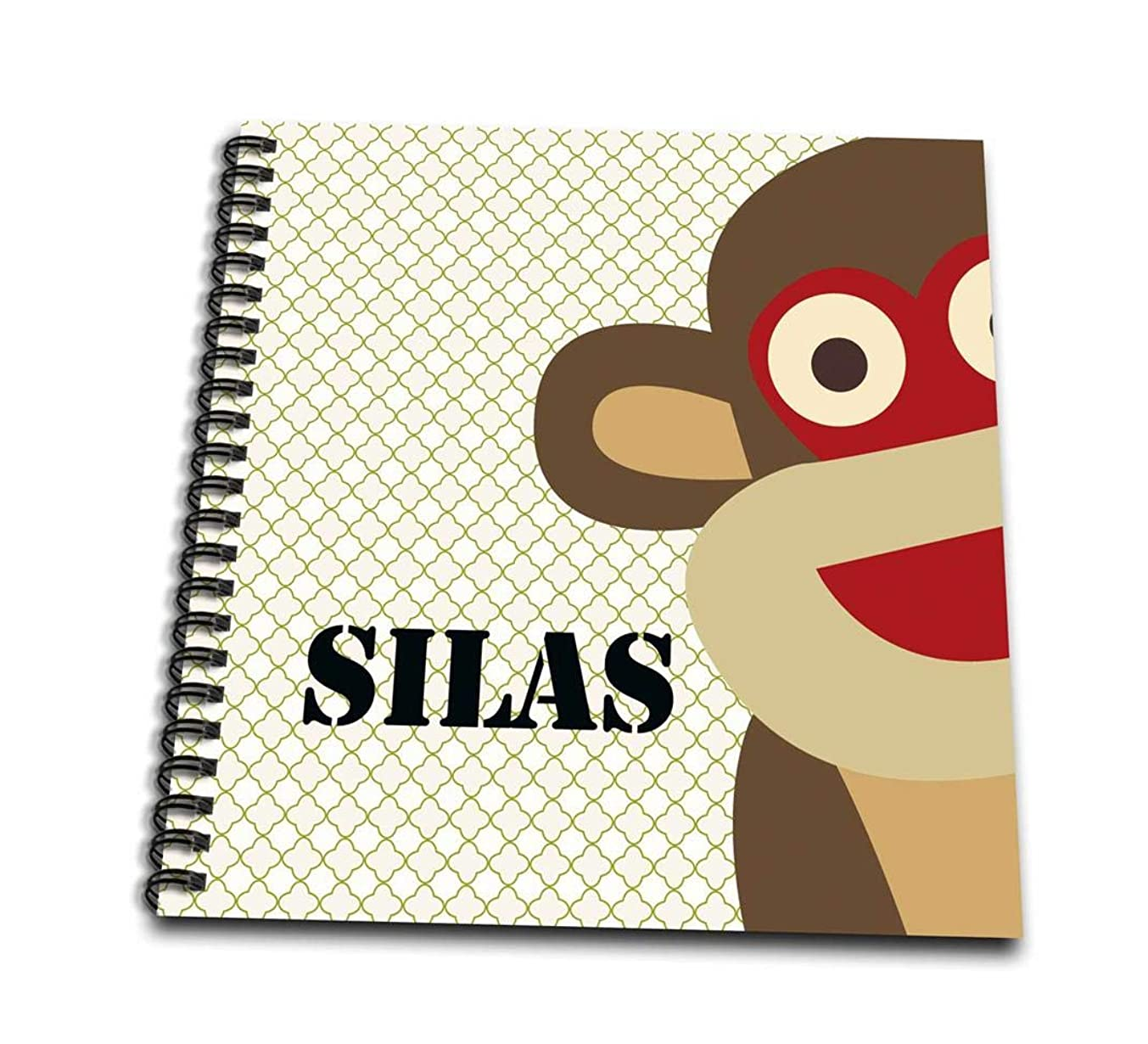 3dRose db_181260_3 Monkey Silas Boys Name Mini Notepad, 4
