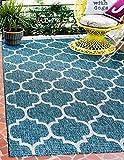 Unique Loom Trellis Collection Casual Moroccan Lattice Transitional Indoor and Outdoor Flatweave Area Rug, 8' x 11' 4