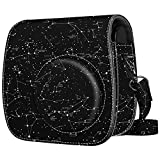 Fintie Protective Case Compatible with Polaroid PIC-300 / Fujifilm Instax Mini 7s Instant Film Camera - Premium Vegan Leather Bag Cover with Removable Strap, Constellation
