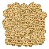 Hellery 120Pcs Kraft Sticker Labels Danke Aufkleber Selbstklebende Siegel Aufkleber Dekorative Aufkleber Für Hochzeit, Scrapbooking, Geschenkpapier, Umschläge