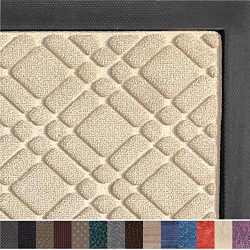 Gorilla Grip Original Durable Rubber Door Mat, 29 x 17, Heavy Duty Doormat, Indoor Outdoor, Waterproof, Easy Clean, Low-Profile Mats for Entry, Garage, Patio, High Traffic Areas, Modern Latte