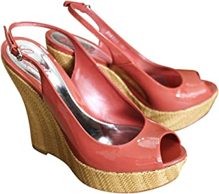99cb6b9c5 Gucci Coral Patent Leather Platforms Wedges Shoes 258355