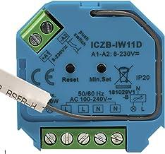 icasa Zigbee 3.0 dimmer   230V-200/400W   3 Draads (Heeft nuldraad nodig)  fase afsnijding   Compatible met Zigbee 3.0 Gat...
